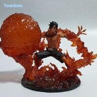 One Piece Action Figures Ace Fire Fist DIY Figure Toy Anime Onepiece Portgas D Ace Diorama Fire Devil Fruit Model Toys OP28