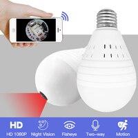 SDETER 960 1080P 360 Degree Wireless IP Camera Bulb Light Lamp FishEye Panoramic Home CCTV Camera