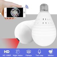 SDETER 960 1080P 360 degree Wireless IP Camera Bulb Light Lamp FishEye Panoramic Home CCTV Camera 1.3MP Security P2P WiFi Camera