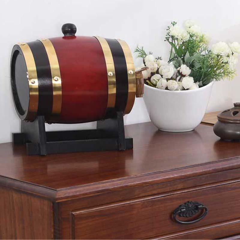 5L ąžuolo statinės kaušas Alus pridedamas baltas vyno baras Namų - Virtuvė, valgomasis ir baras - Nuotrauka 4