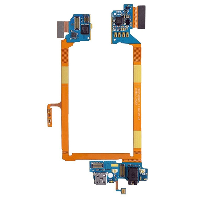 IPartsBuy USB Charging Connector Port Flex Cable & Microphone Flex Cable For LG G2 / LS980