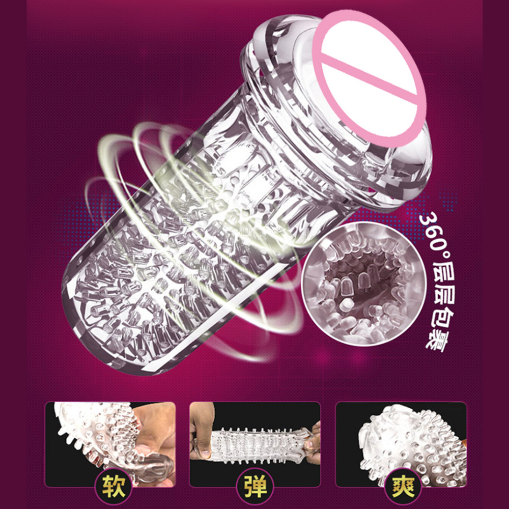 Automatic Electric Masturbation Cup With Moan Voice Rotation Vibrator Male Masturbator Simulated Pussy Vagina Sex Toys for Men in Masturbation Cup from Beauty Health