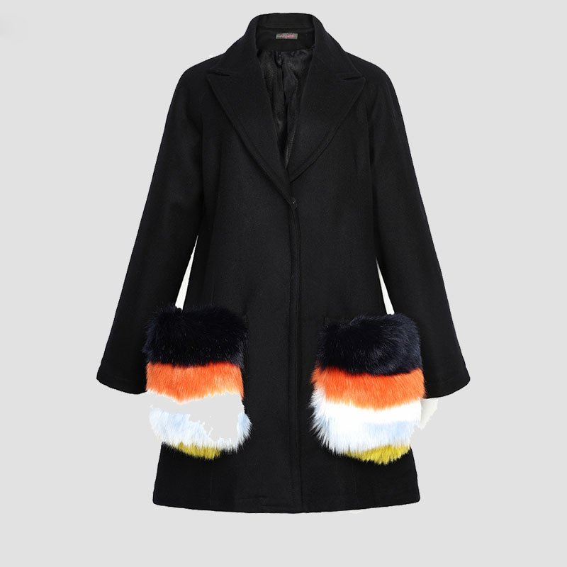 Compare Prices on Womens Black Oversized Woolen Coat- Online
