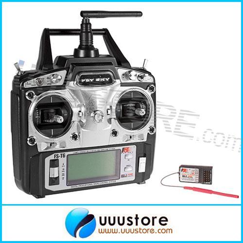 Flysky FS-T6-RB6 FS 2.4 GHz RC Hélicoptère Transmetteur 6CH 6 Canaux Radio Mode De Contrôle 2