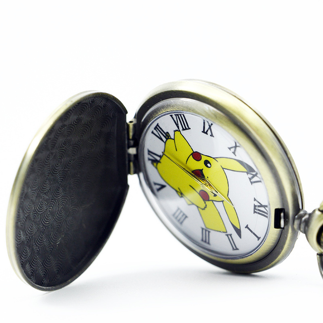 Pokemon Quartz Pocket Watch Necklace