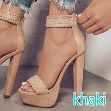 Ankle Strap Lady Sexy European Design High Heels Sandals Shoes