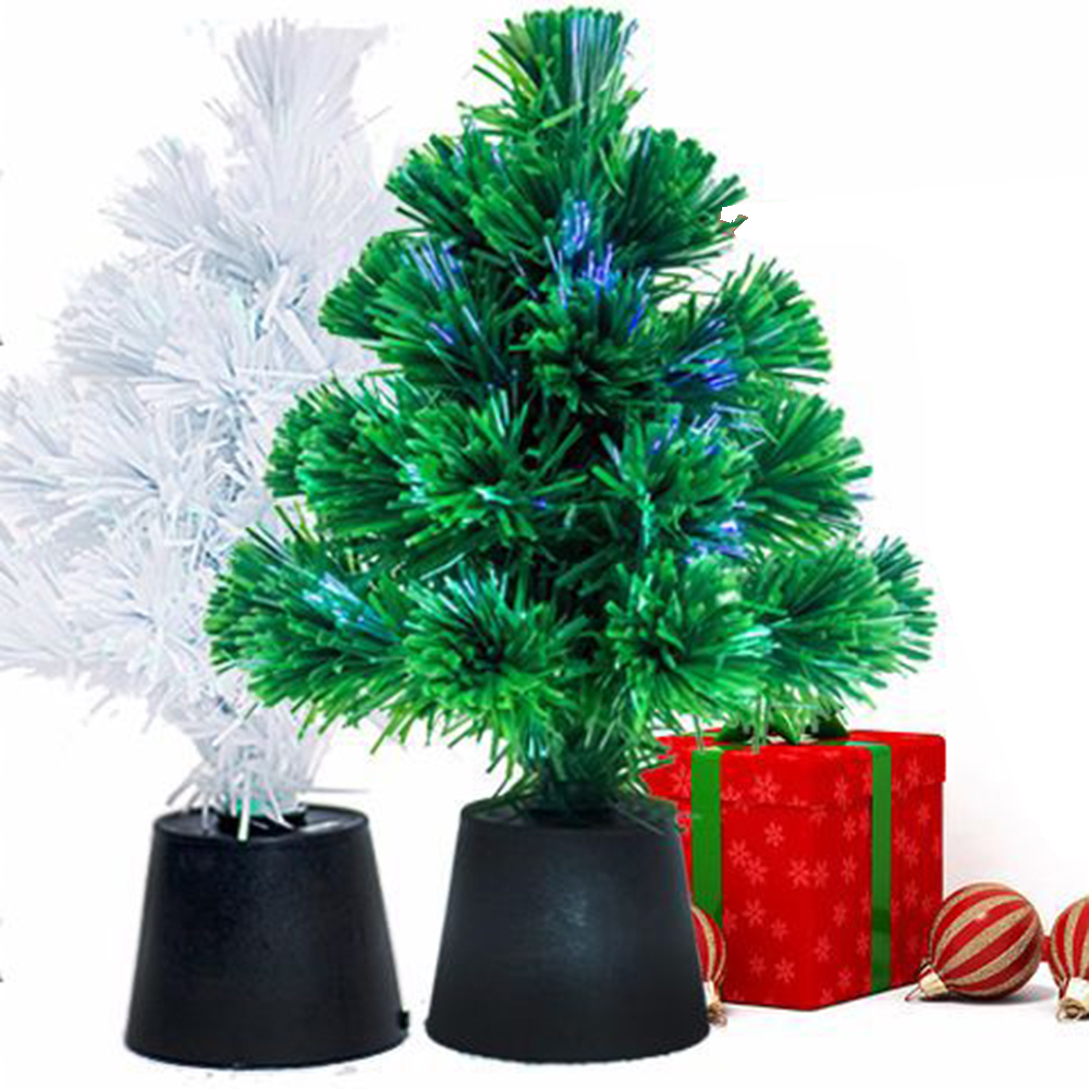 aliexpresscom buy 2018 new 30cm christmas tree mini usb fiber optic christmas decor home hotel restaurant wall window decor white green color from