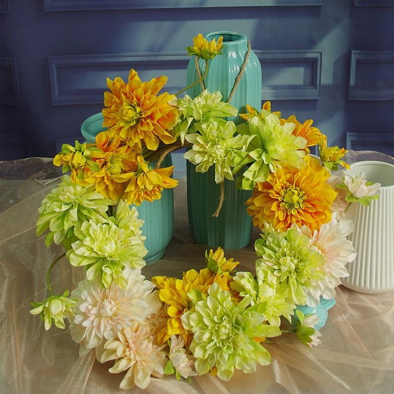 Ventes exclusives bricolage-Dahlia porte guirlandes porte fleur printemps Arrangement mariage porte fête événement livraison gratuite