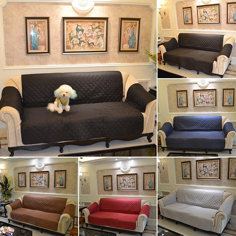 3 asiento Cubiertas para el sofá funda reversible Muebles protector ...