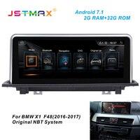 JSTMAX Android 7.1 Car GPS Navi Radio head unit player For BMW X1 F48 2016 2017 (Original NBT system, 6Pin) GPS PLAYER DAB+