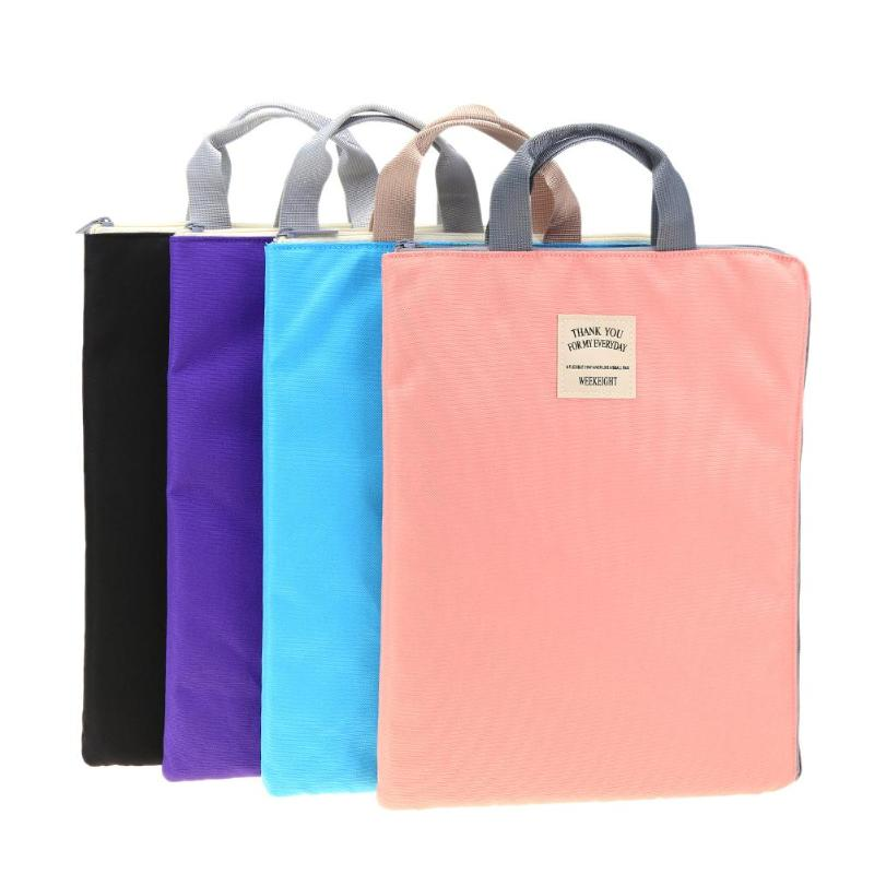 Multi-functional A4 Document Bags Filing Products Portable Waterproof Oxford Cloth Storage Bag for Notebooks Pens Computer multi functional stripes three lattice storage hang bags