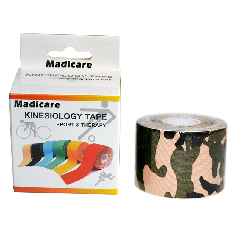Camouflage Cinta Tape Kinesiologia Tape Camo Printed K Tape Wrap 5CM*5M Elbow Wasit Running Swimming Tennis Soccer Golf Sports