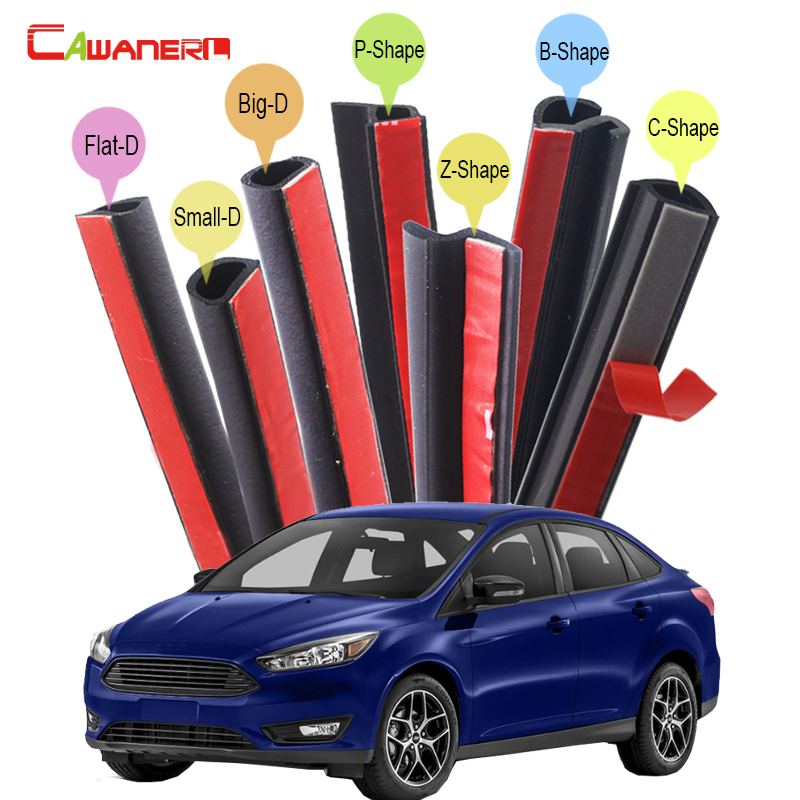 Cawanerl For Ford Fiesta Escort Focus Mondeo Mustang Car Body Rubber Sealing Seal Strip Kit Weatherstrip Noise Insulation leetka oil filter for ford fiesta white