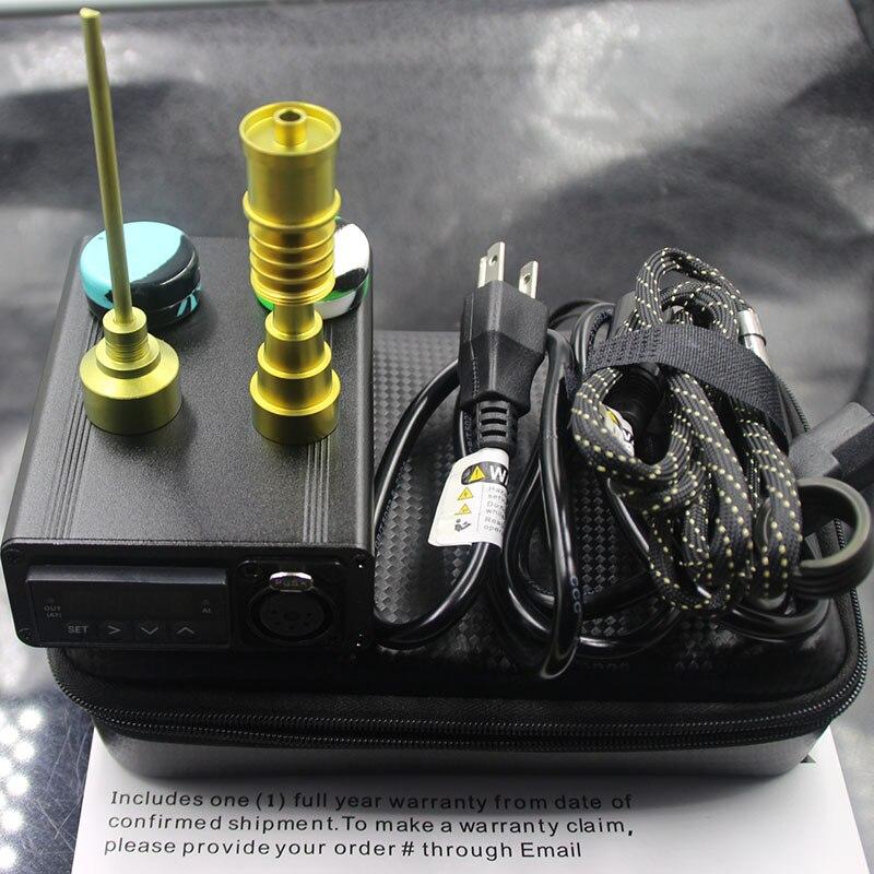 Kits d'enail portables clou électrique clou E clou ongles de quartz PID TC boîte de dabber 10 16 20mm réchauffeur de bobine tapis de silicium