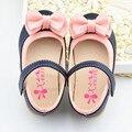 Size21-30 Spring Girls Shoes PU Leather Princess Shoes Little Girls First Walker Shoes Bow Chaussure Enfant Fille Pour Les Fetes