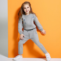 The girl set the spring and autumn 2017 new children girl child with cashmere sweater in autumn and winter 2pcs