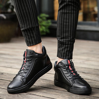 Merkmak Genuine Leather Men Waterproof Shoes Men Casual Sneakers Fashion Ankle Boots For Men High Top Winter Men Shoes Size 47 2