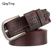 Vintage Genuine Leather Pin Buckle Belt For Men. Available Colors – Black and Coffee