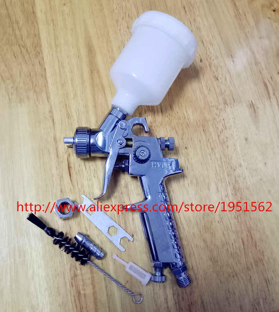 ФОТО Car furniture repair small gun spray paint the gunners to move gun H2000 HVLP pneumatic tools high atomization