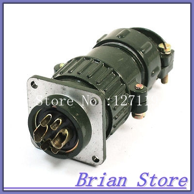 P28 6 Core 28mm 6 Pin Stepper Motor Aviation Connector
