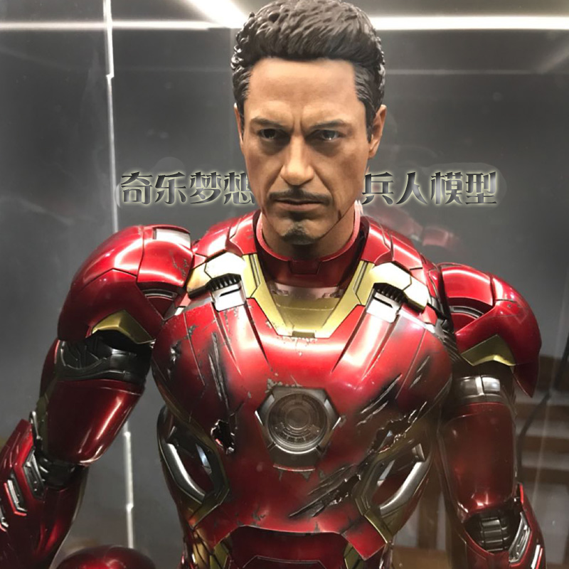 Mnotht 1/4 Scale Tony Stark Head Sculpt For Hot Toys MK43 MK45 Action Figures Toys l30 1 6 scale the game of death bruce lee head sculpt and kungfu clothes for 12 inches figures bodies