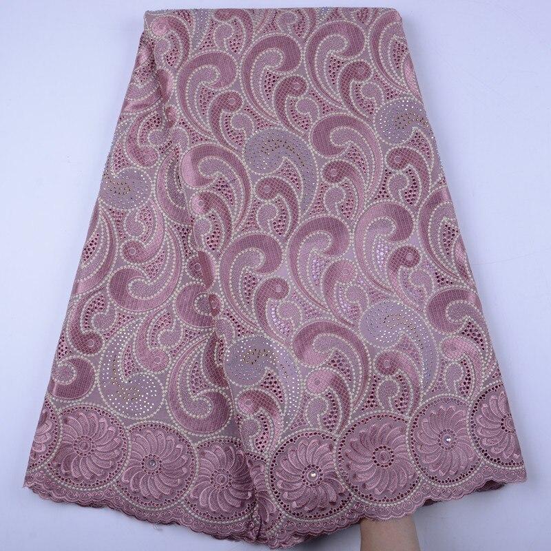New Design black African Cotton Swiss Voile Lace Fabric High Quality African Swiss Voile Lace In