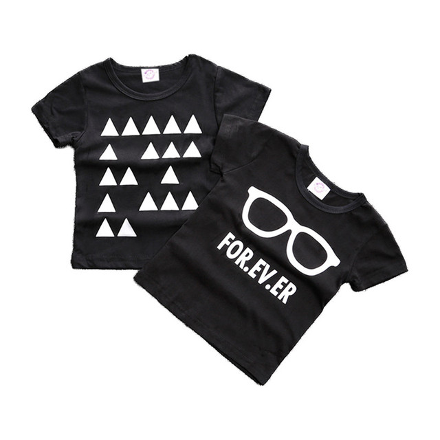 Black and White Cotton Baby Boys T-Shirt 4