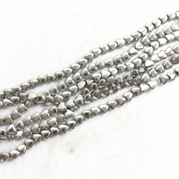 HOT silver-color hematite stone 6mm 8mm 10mm Natural fashion heart shape beads loose Beads 15 inches B212