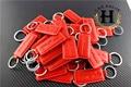 50pcs Metal Key chain Ring ALFA ROMEO Keychain Key ring for Mito 147 156 159 166 Giulietta Spider GT Car Logo emblem Badge