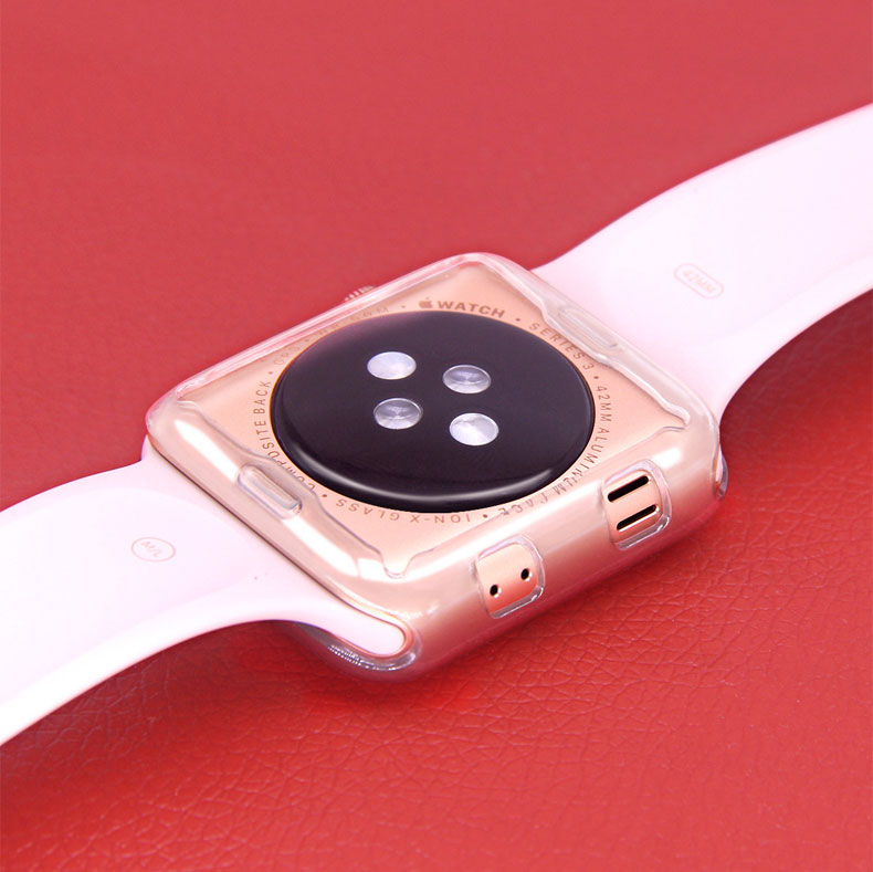 Silicone Cover Apple Watch 4 5 44mm 40mm 42mm 38mm All-Around Ultra-Thin Case