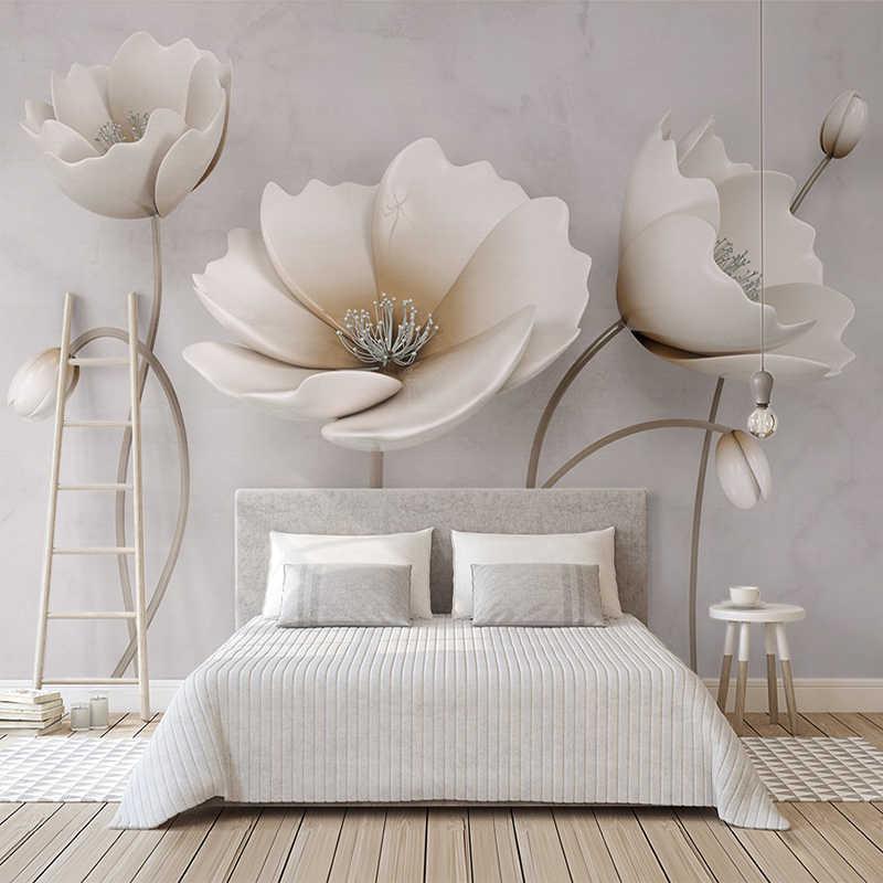 Simple Elegant Flower Mural Wall Paper