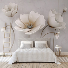 цены Custom Photo Wallpaper 3D Simple Elegant Flower Mural Wall paper For Walls 3 D Living Room TV background Wall Decor Wall Cloth