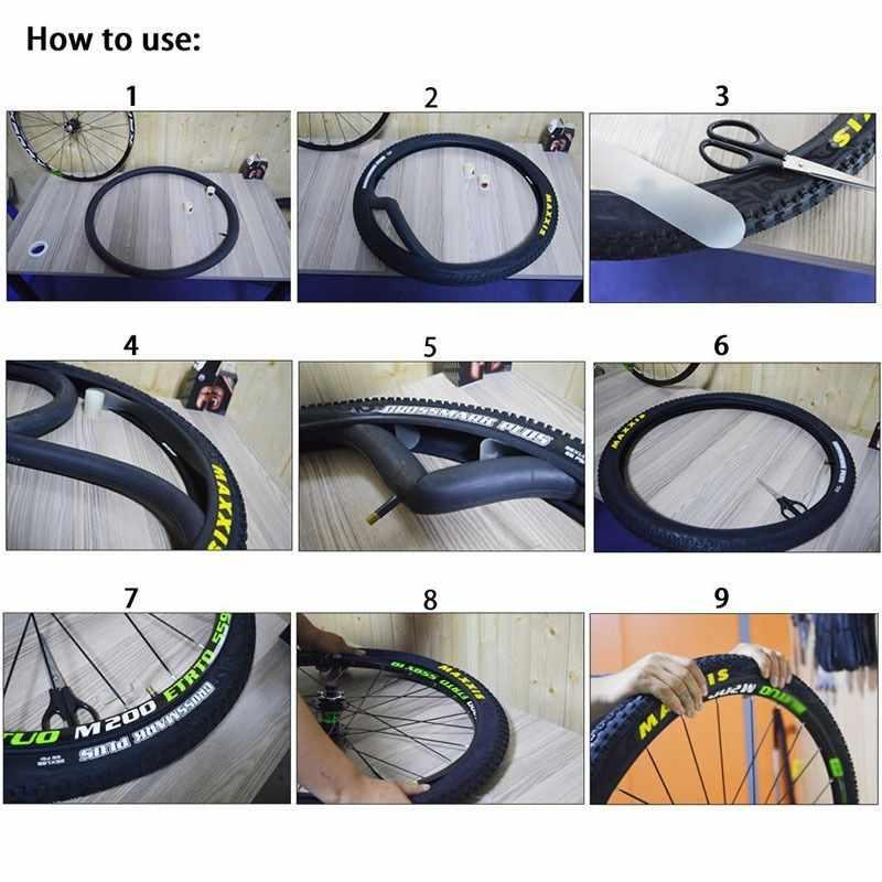 2 шт. 26/27,5/29/700C прочный герметизирующий слой бескамерной шины для велосипедов с защитой от проколов сшитого полиэтилена для MTB шины для велосипеда трубка протектор анти-прокол ремень в наборе