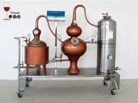 Distiller High Alcohol Distilling Machine Three Pot Distiller Brandy Machine Red Copper Distiller Brewing Equipment Whiskey