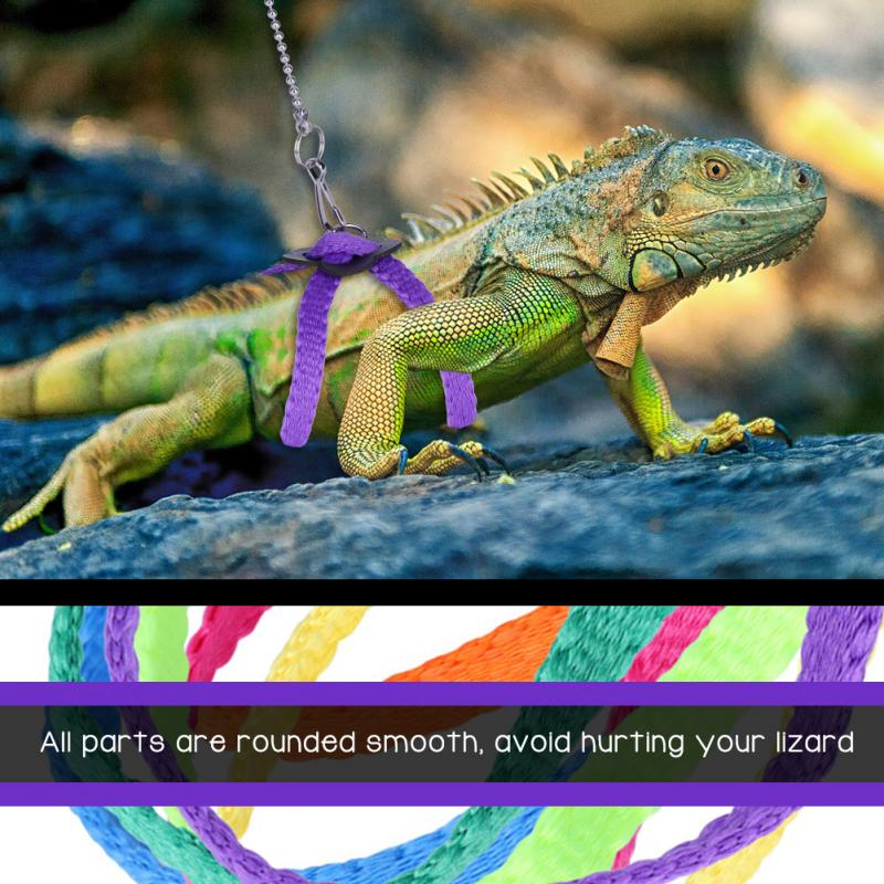 Lizard Harness Adjustable Reptile Lizard Harness Soft Leash