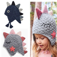 Knitted Cotton Hat for Newborn Baby Hat Dinosaur Boy Cap Toddler Girl Animal Style Warm Photography Bonnet Touca Chapeau Enfants стоимость