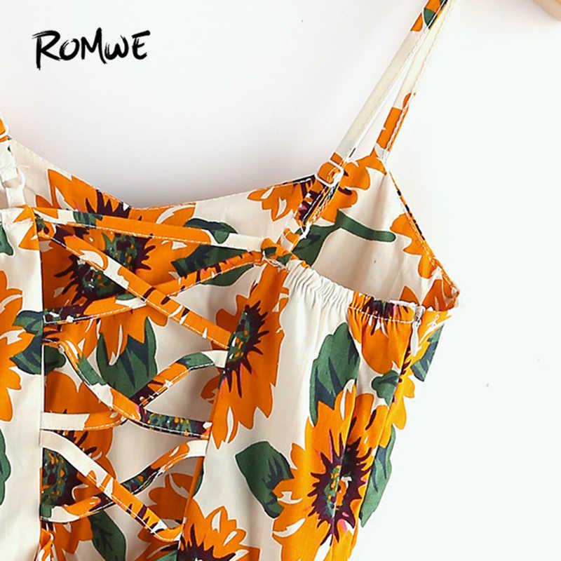 90927aa5323 Detail Feedback Questions about ROMWE Random Sunflower Print ...