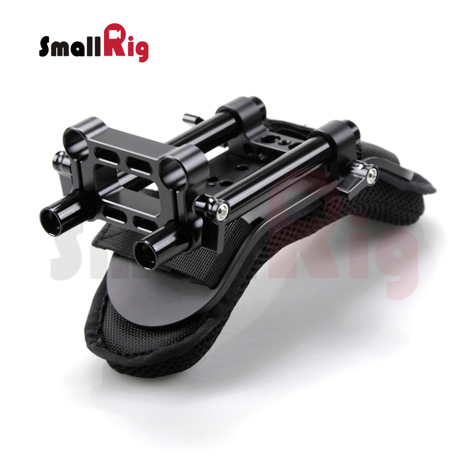 SmallRig Shoulder Pad Soft Decompression Steady Shoulder Mount for Dslr Camera Video Camcorder DV/DC Support System Dslr Rig1512 koolertron professional 15mm rail dia dslr shoulder pad support mount rig hand grip for cannon sony dv hdv hd camcorder