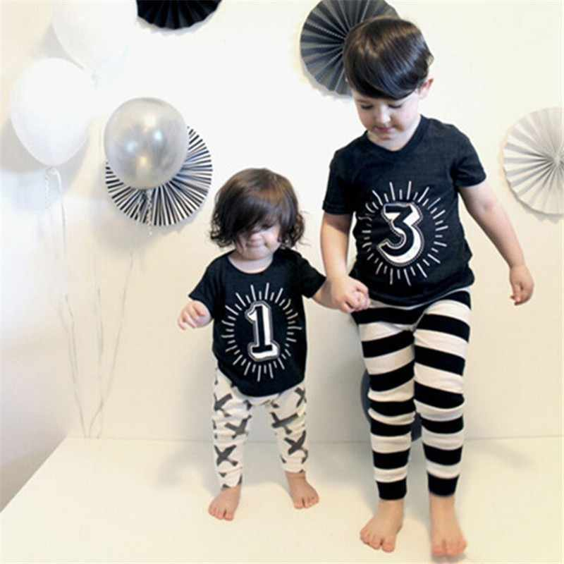 Baby Girl Boy Shirts for Children Shirt For Boys Summer Toddler Girl Clothing Black Tops Tess I'm 1 2 3 4 Years Birthday T-shirt