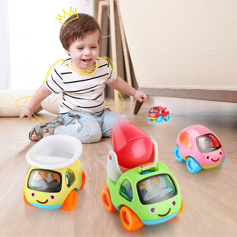 Kawaii Mini 6Pcs/set Cartoon Pull back Car Resistance to Fall Vehicle Toys For Children Under 6 Random Delivery