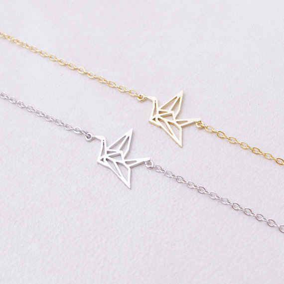 1PCS Cute Origami Crane Bracelets Forest Paper Crane
