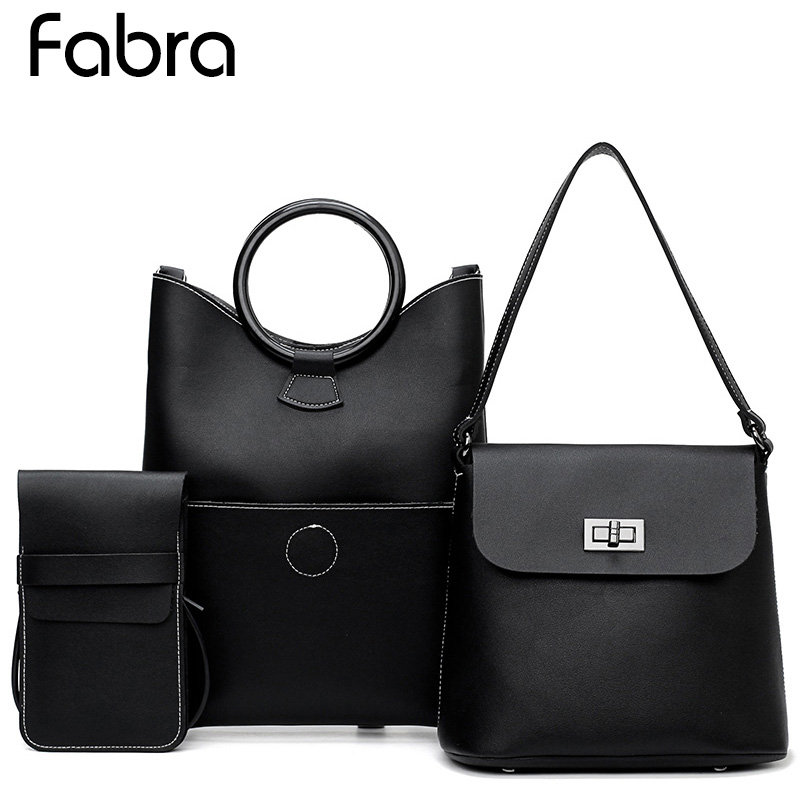 New 3 Pcs/Set Women PU Leather Handbags Women Messenger Bag Brands Tote Composite Bag Shoulder Crossbody Bags Small Phone Bag
