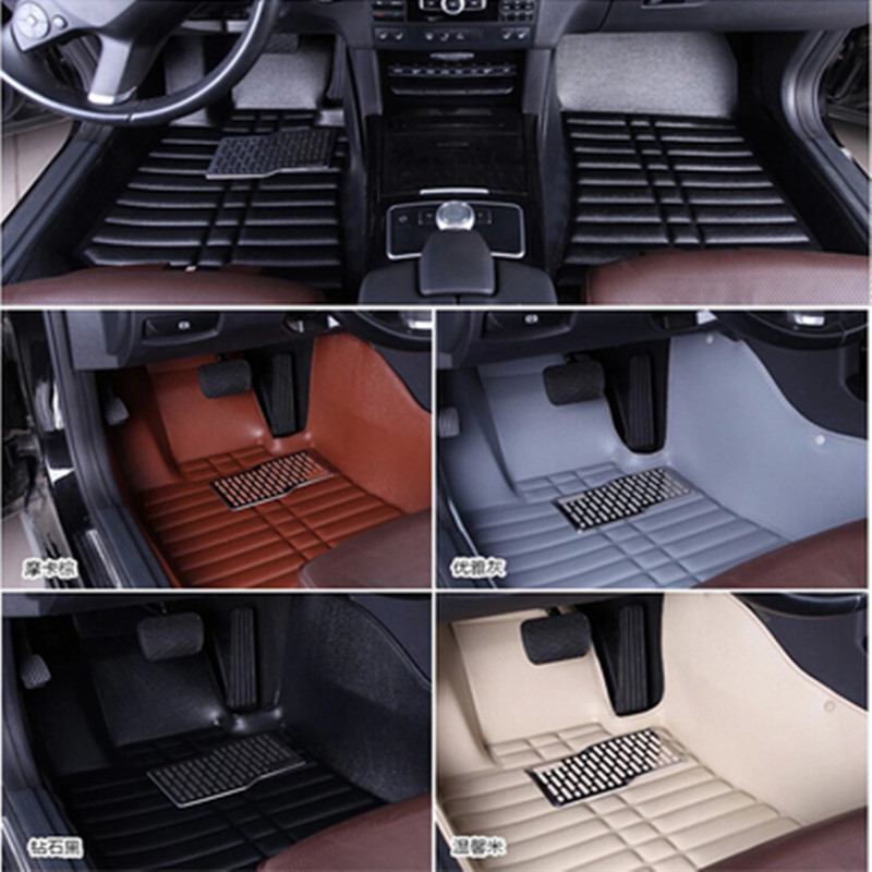 Car Floor Mats Covers top grade anti scratch 5D fire resistant durable waterproof leather mat for HYUNDAI ,ix35,sonata,Styling car floor mats covers top grade anti scratch fire resistant durable waterproof 5d leather mat for nissan series car styling