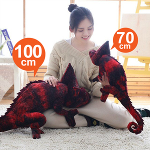 Image 3 - Simulation reptiles Lizard chameleon Plush Toys High Quality Personality animal doll Pillow for kids Birthday Christmas Gifts