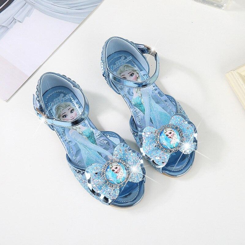 628eb5286ca Detail Feedback Questions about Children s princess shoes 2018 summer new  girls sandals little girl fish mouth shoes Frozen children s shoes EU size  22 36 ...