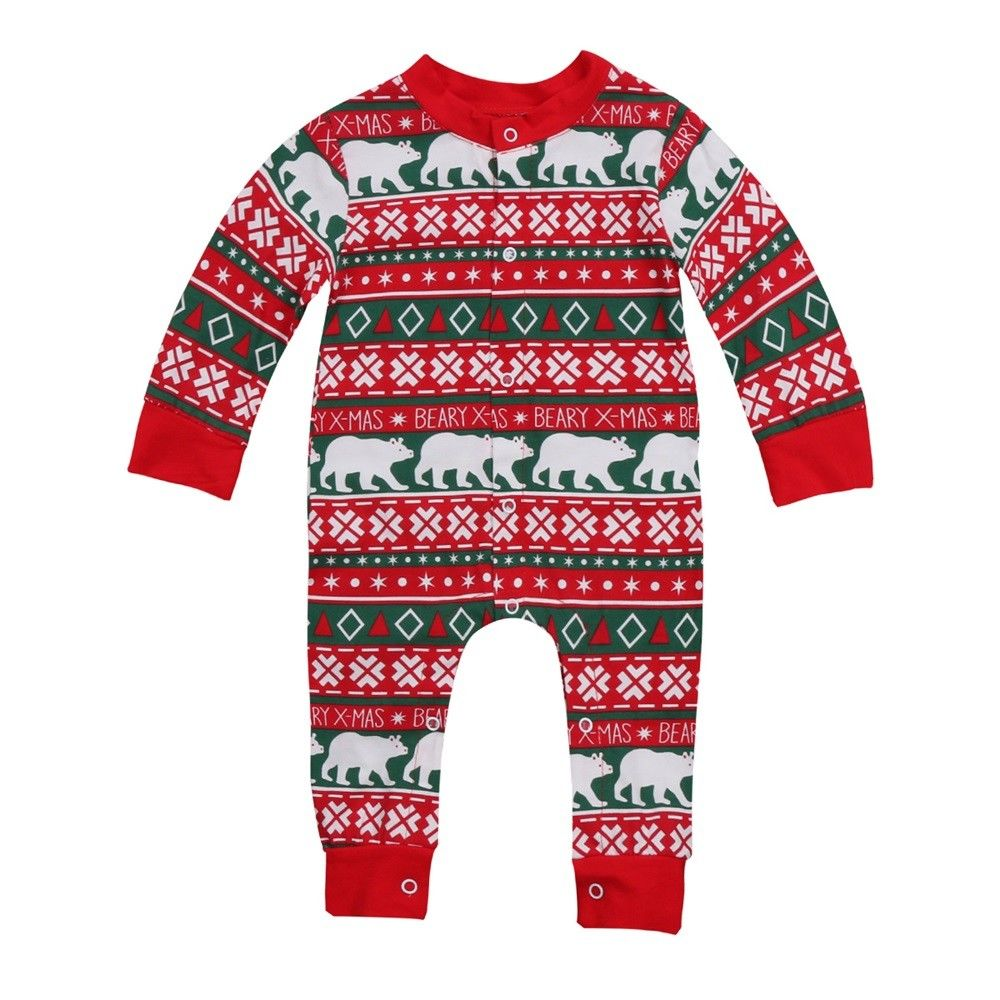 Cotton Newborn Infant Boy Girl Baby Christmas Romper Jumpsuit Outfit Autumn Winter Long Sleeve Rompers newborn infant baby boy girl cotton romper jumpsuit boys girl angel wings long sleeve rompers white gray autumn clothes outfit