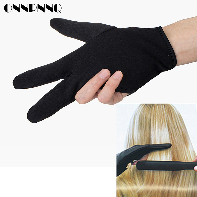 Hairdressing Three fingers anti-hot glove For Flat Iron Heat Resistant Hair Straightening Curling Glove Styling Household Gloves