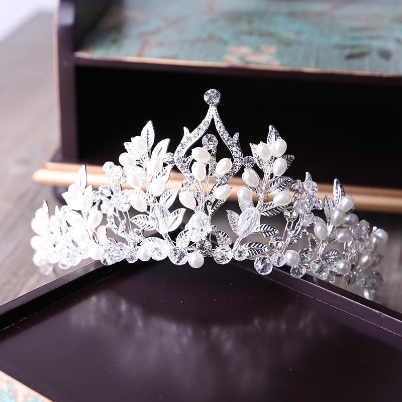 Bridal Hats Wedding Party Bridal Prom Pageant Crystal Sweet 16 Rhinestone Tiara and Crown Headband for Brides