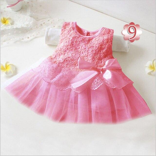 baby girl dresses 2015 summer style Sleeveless Gauze baptism clothing candy color LORI vestido infantil menina party bodysuits