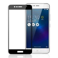Zenfone 3 max zc520tl 용 3d 강화 유리 asus x008d 용 전체 화면 커버 스크린 보호 필름